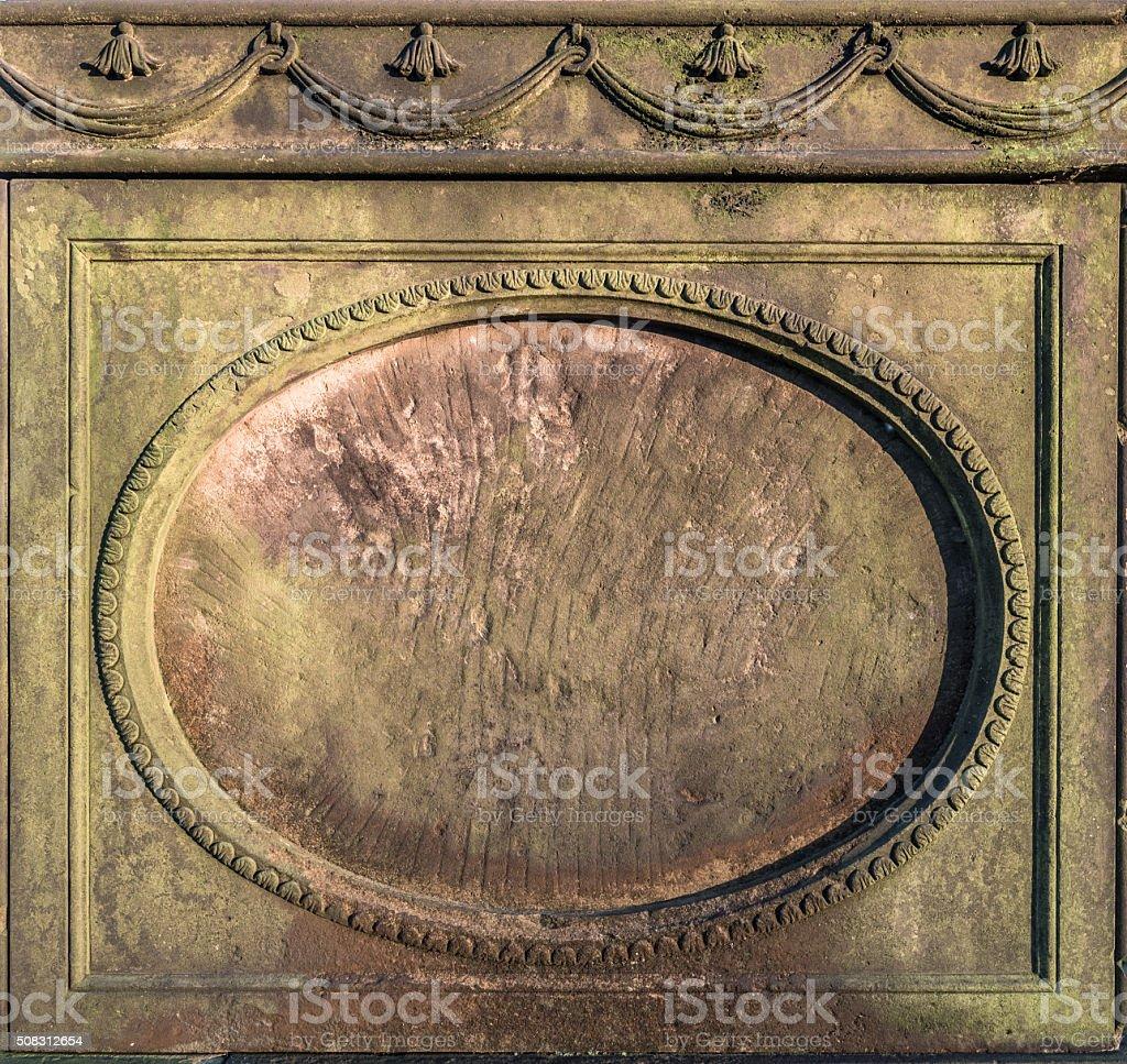Stone Plaque stock photo