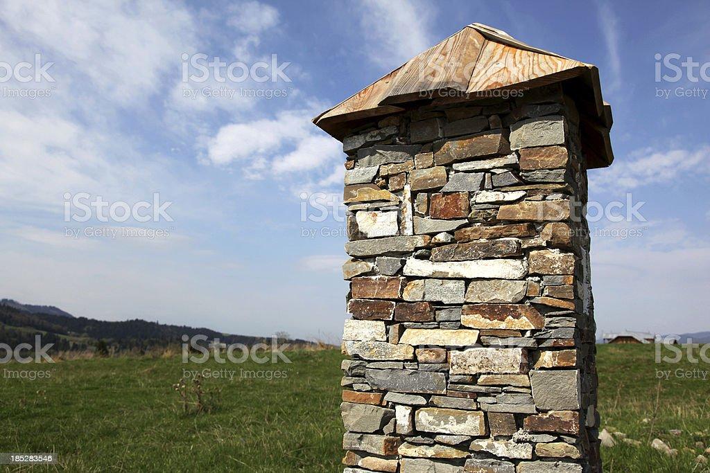 Stone post royalty-free stock photo