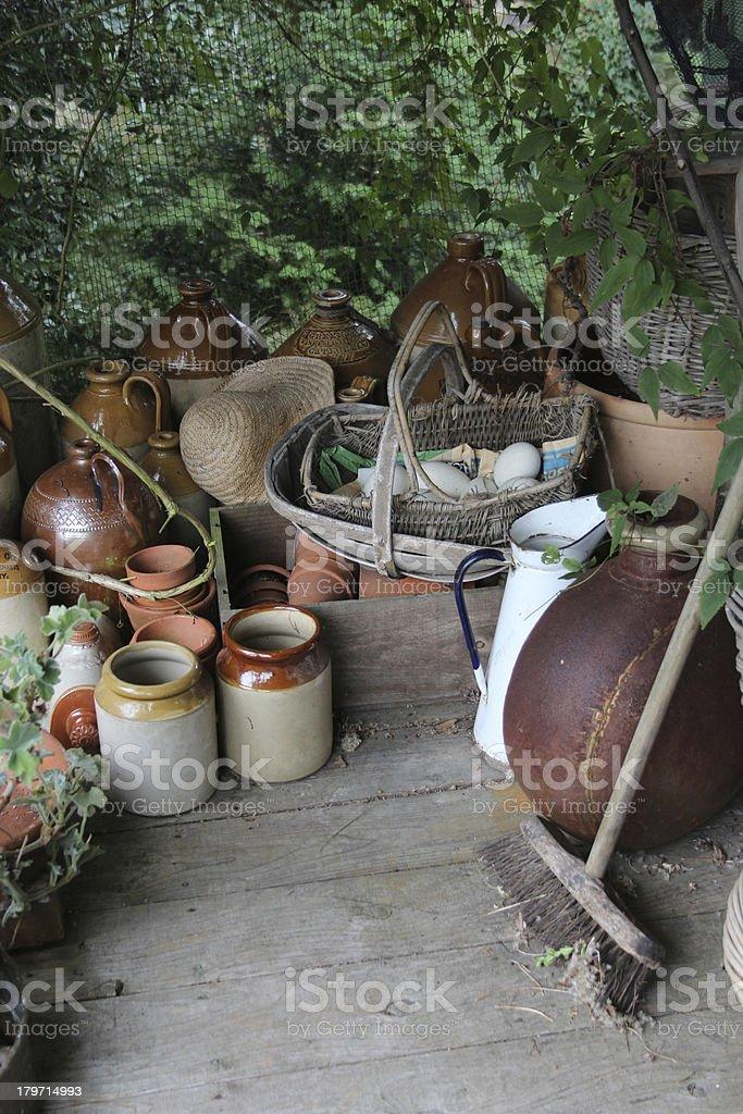 stone pots royalty-free stock photo
