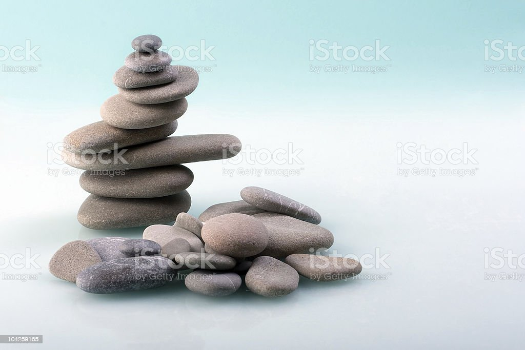 Stone pyramid royalty-free stock photo