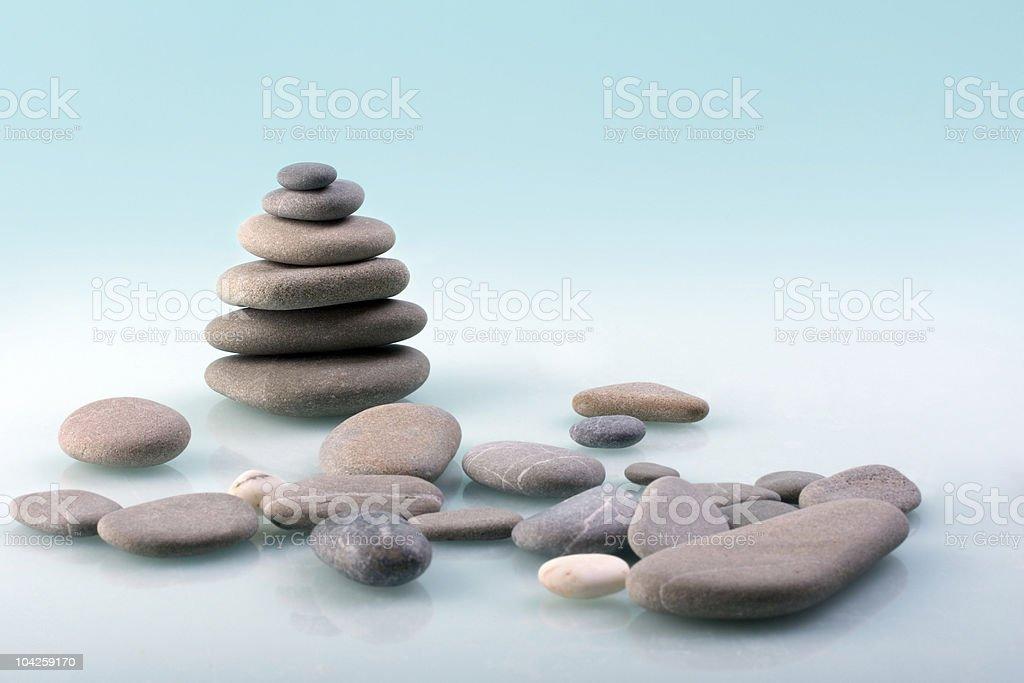 Stone pyramid royalty-free stock photo