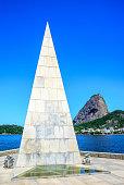 Stone pyramid-shaped needle rising from the ground, Estacio de Sa