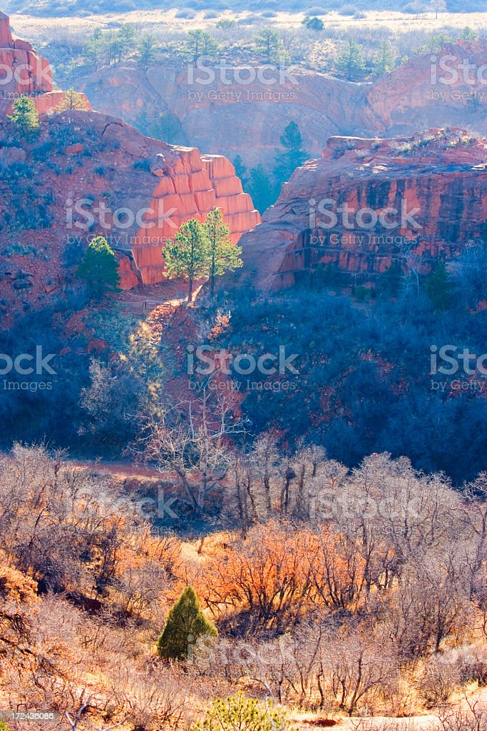 Stone Quarry at Red Rocks Open Space royalty-free stock photo