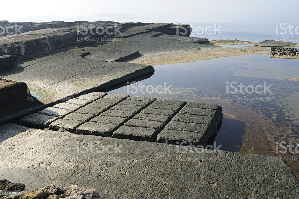 Stone Quarry in the sea royalty-free stock photo