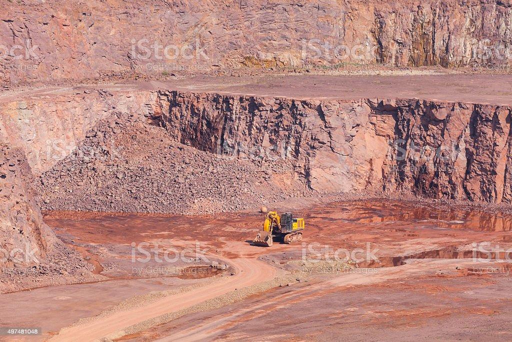 Stone quarry stock photo