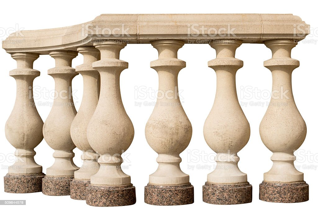 stone railing stock photo
