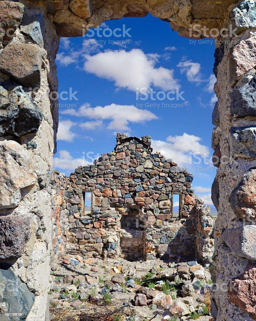 Stone remains stock photo