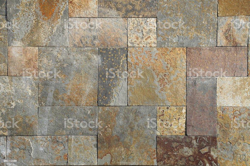 Stone revetment stock photo