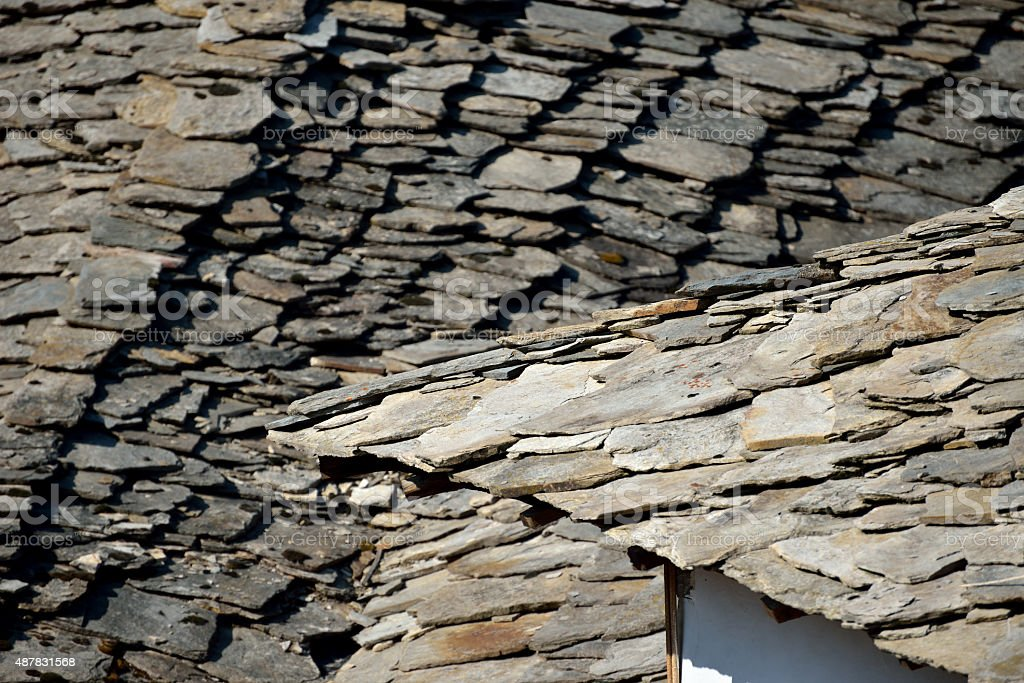 Stone Roof Tiles stock photo