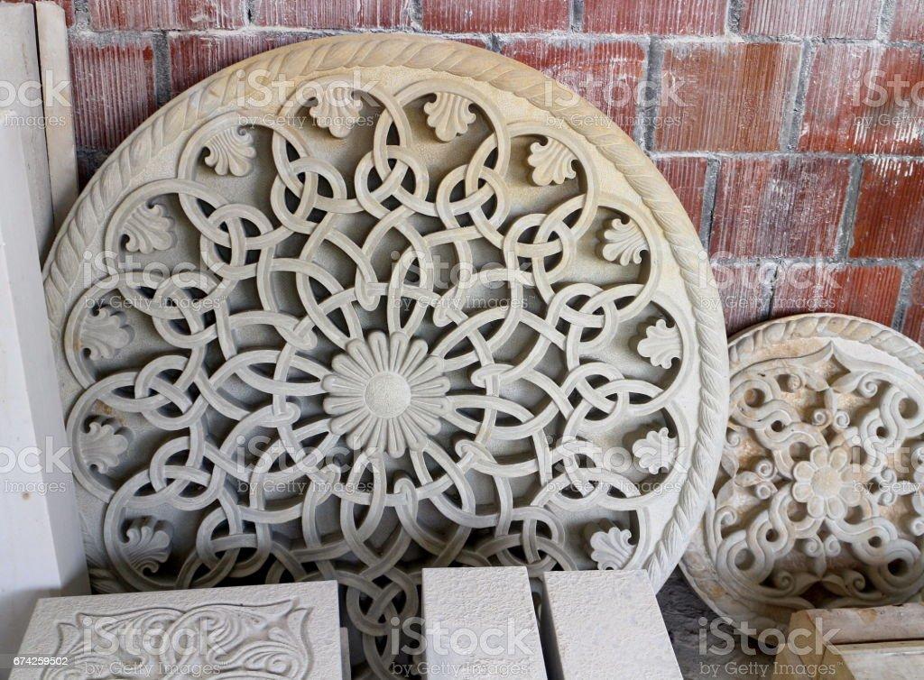 Stone rosettes stock photo