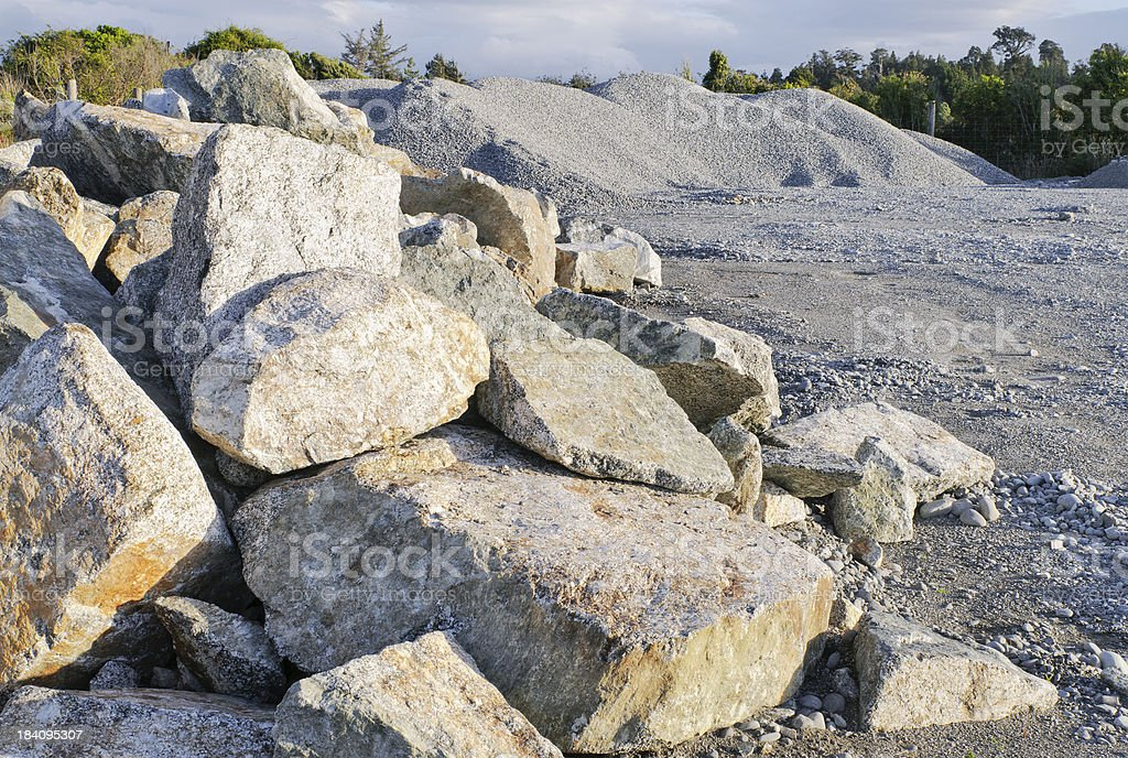 Stone Rubble and Gravel stock photo