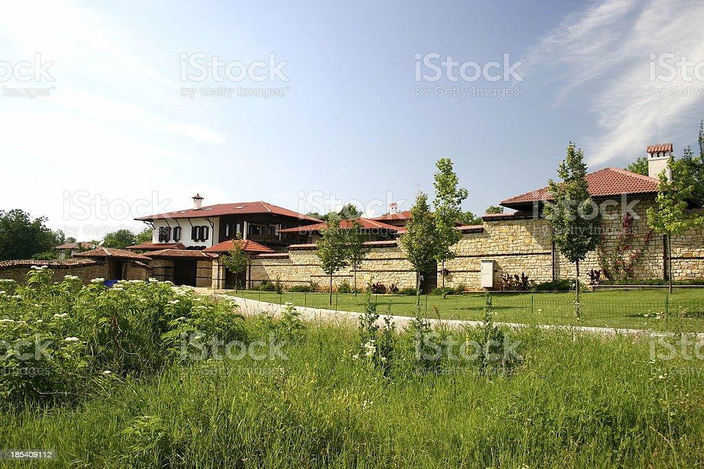 Stone Rural house I Views from Bulgaria royalty-free stock photo