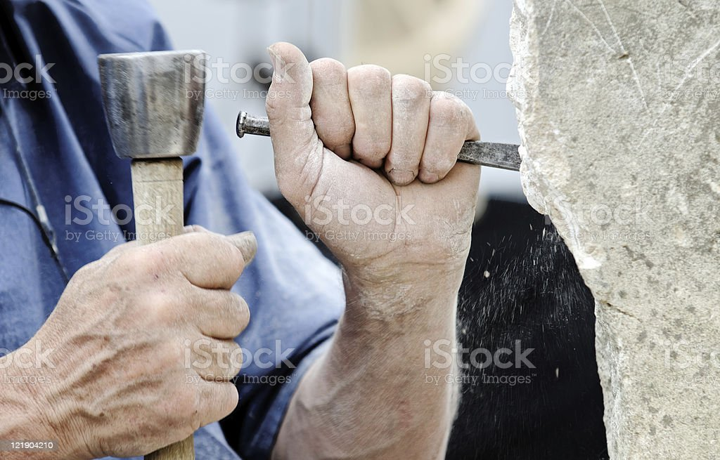 stone sculptor royalty-free stock photo