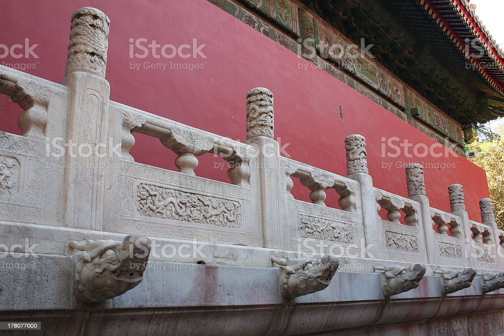 Stone Sculptures of Forbidden City, Beijing, China royalty-free stock photo
