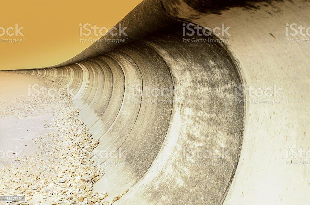 Stone Sea Wall Giving Coastal Protection stock photo