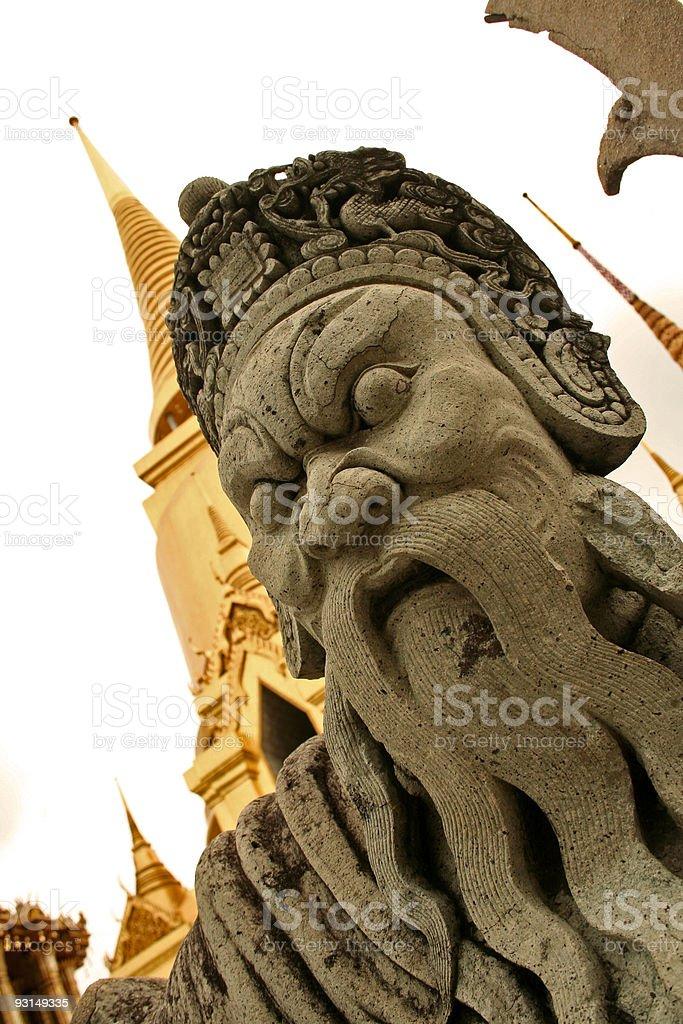 stone sentinal bangkoks grand palace thailand royalty-free stock photo