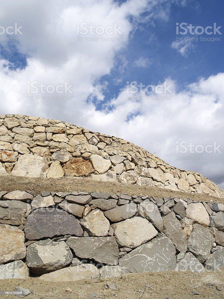 Stone & Sky royalty-free stock photo