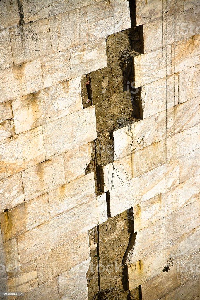 Stone slab detached stock photo