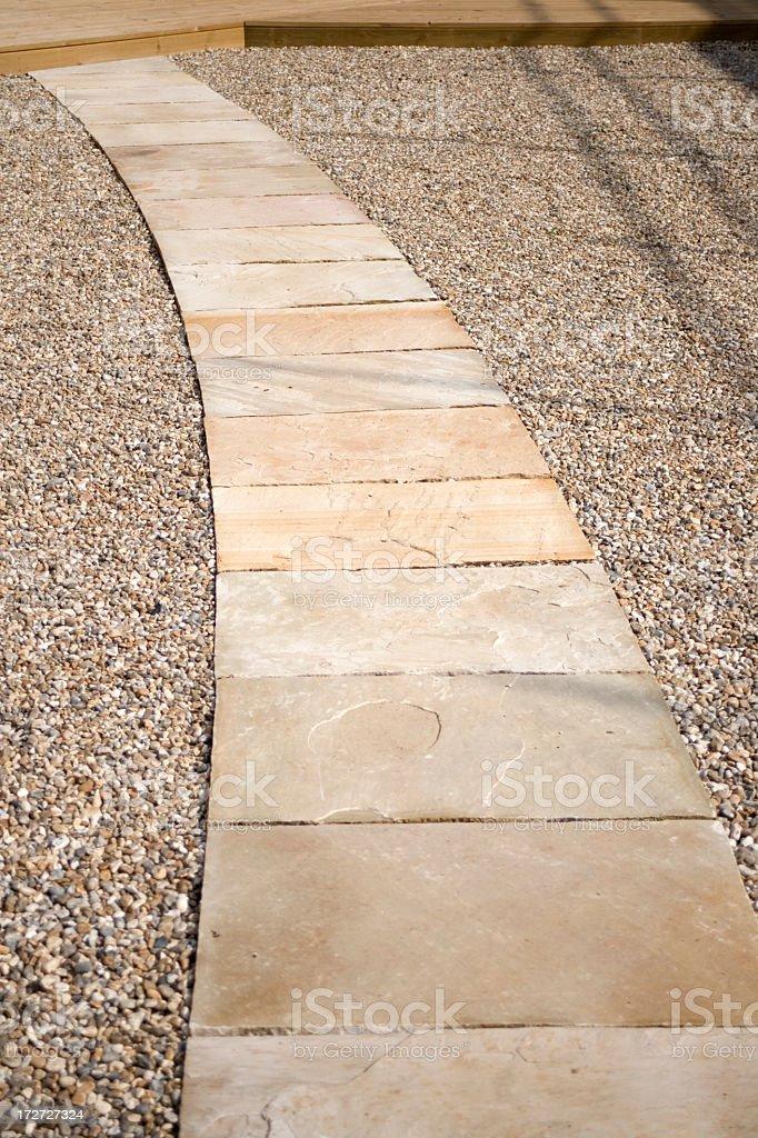 Stone slab path stock photo