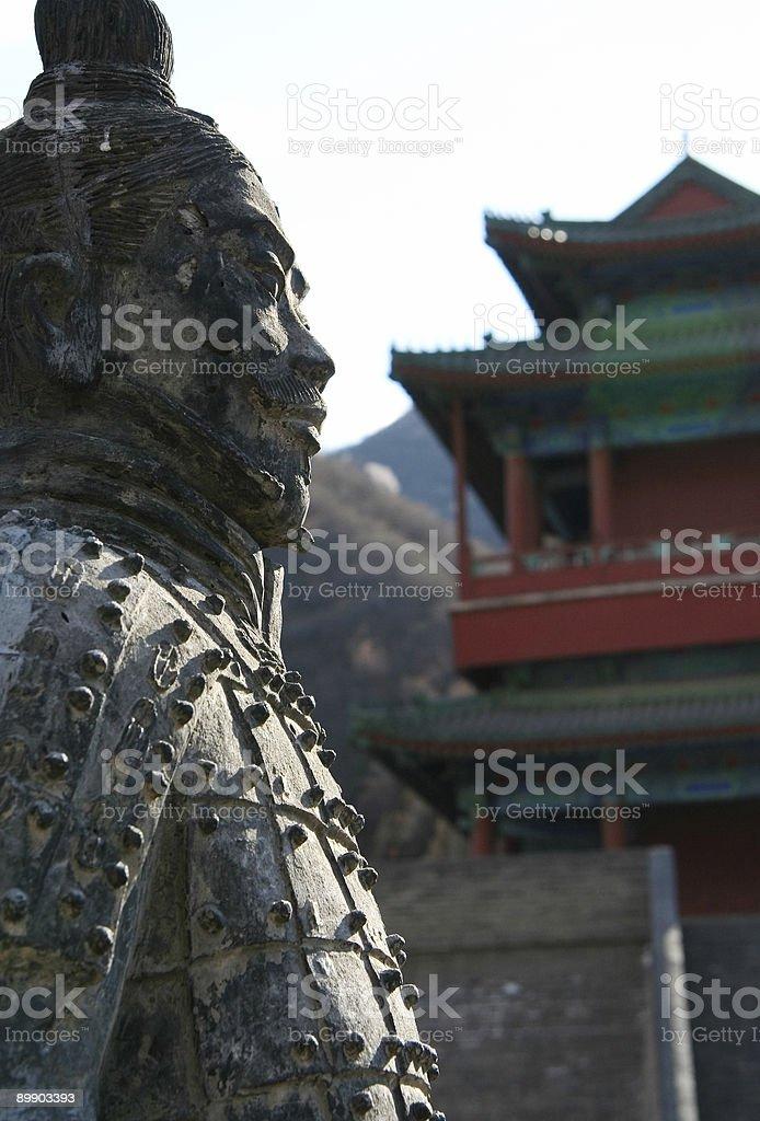 Stone soldado de foto de stock libre de derechos
