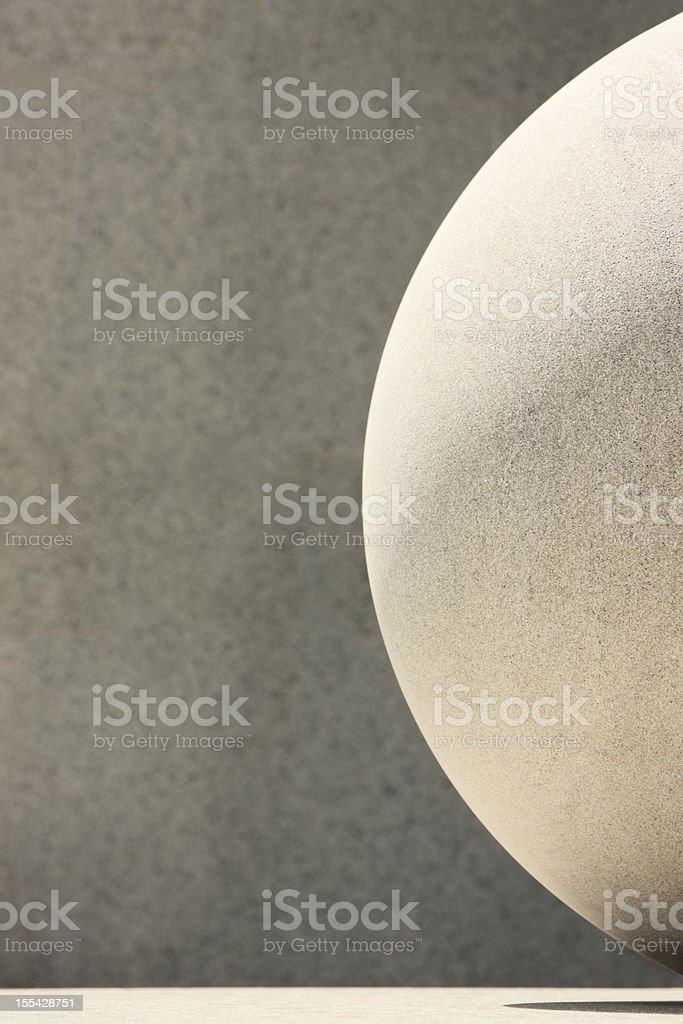 Stone Sphere Shape Abstract royalty-free stock photo