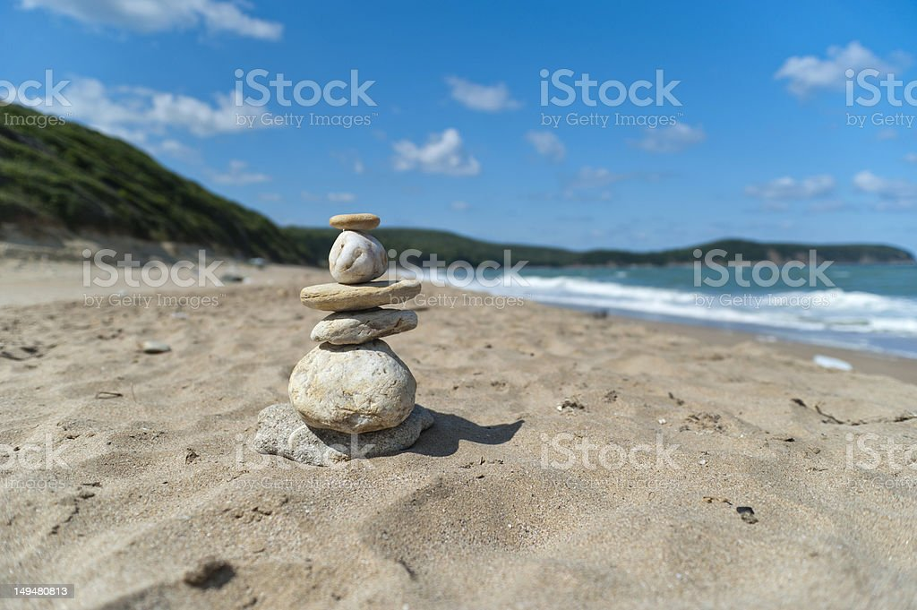 stone stack stock photo