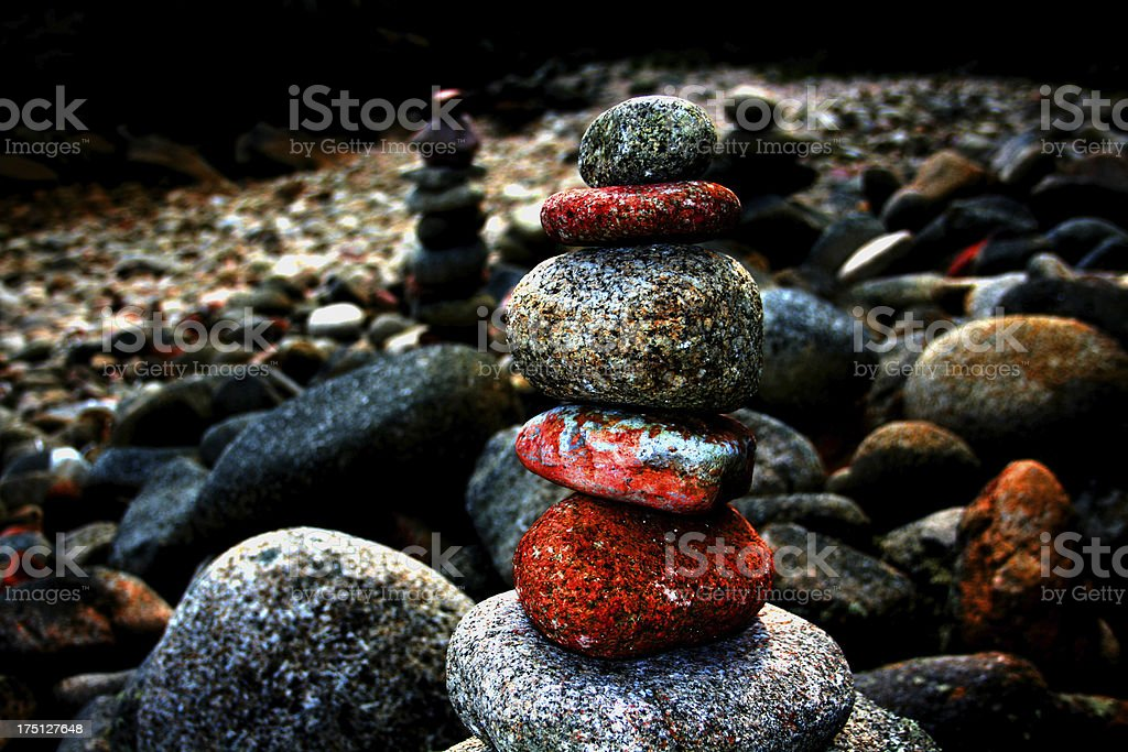 Stone stack royalty-free stock photo