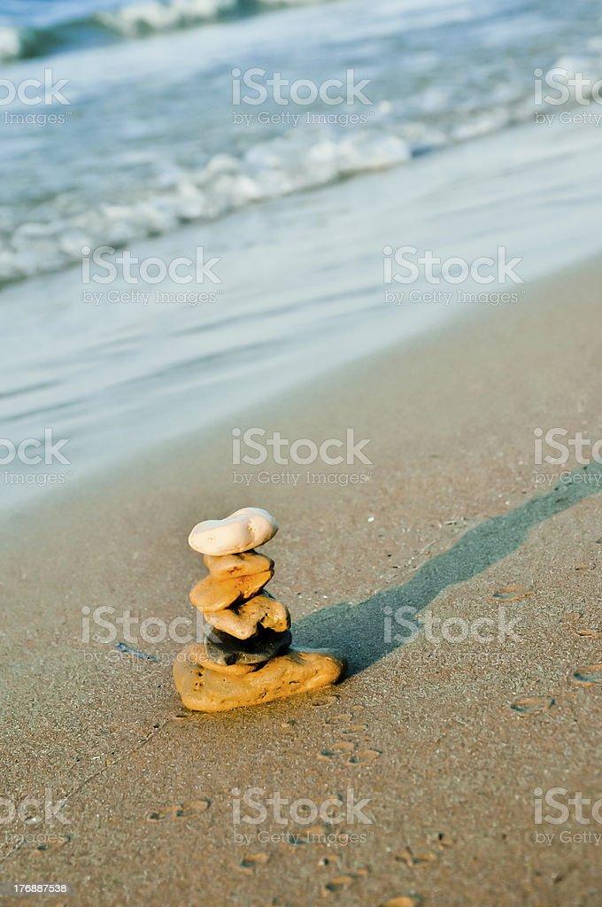 Stone Stapel. Zen-symbol für Glück und beruhigend Lizenzfreies stock-foto