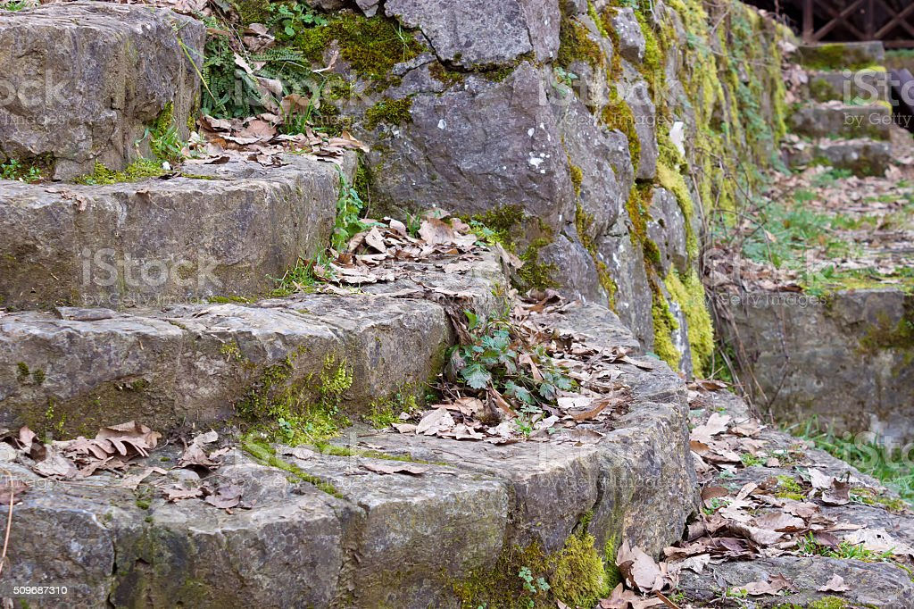 Stone Staircase from Ancient Times stock photo