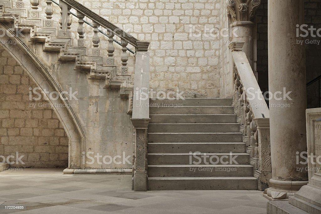 Stone staircase. stock photo