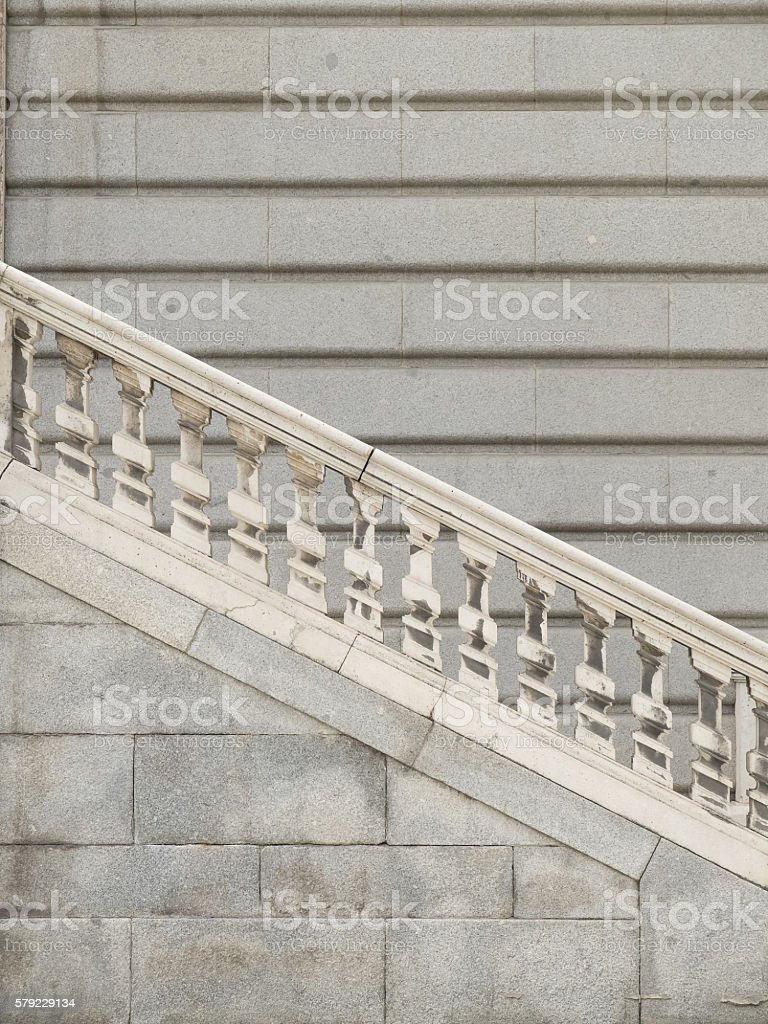 Stone stairs and balaustrade stock photo