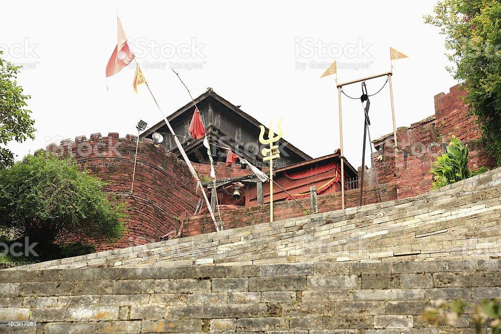 Stone stairs in Gorkha Durbar-Nepal. 0426 royalty-free stock photo