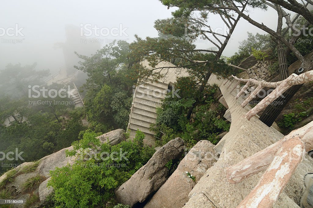 Stone stairs in Yellow Mountains royalty-free stock photo