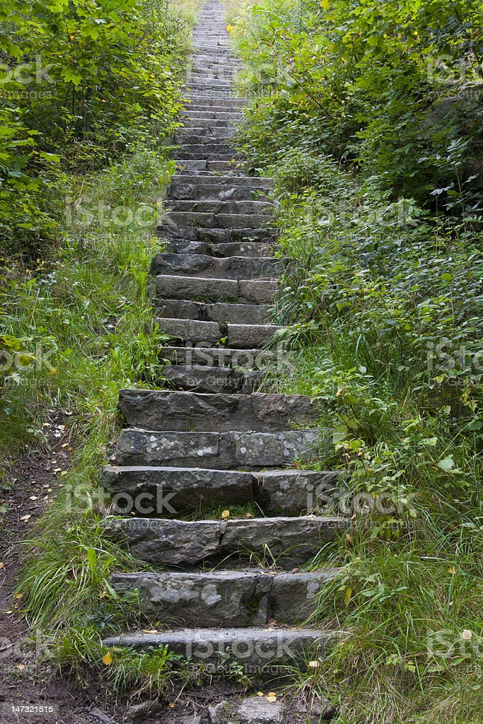 Stone stairs towards heaven stock photo