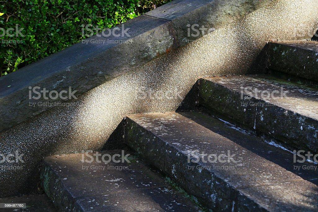 Stone stairway of the light foto de stock libre de derechos