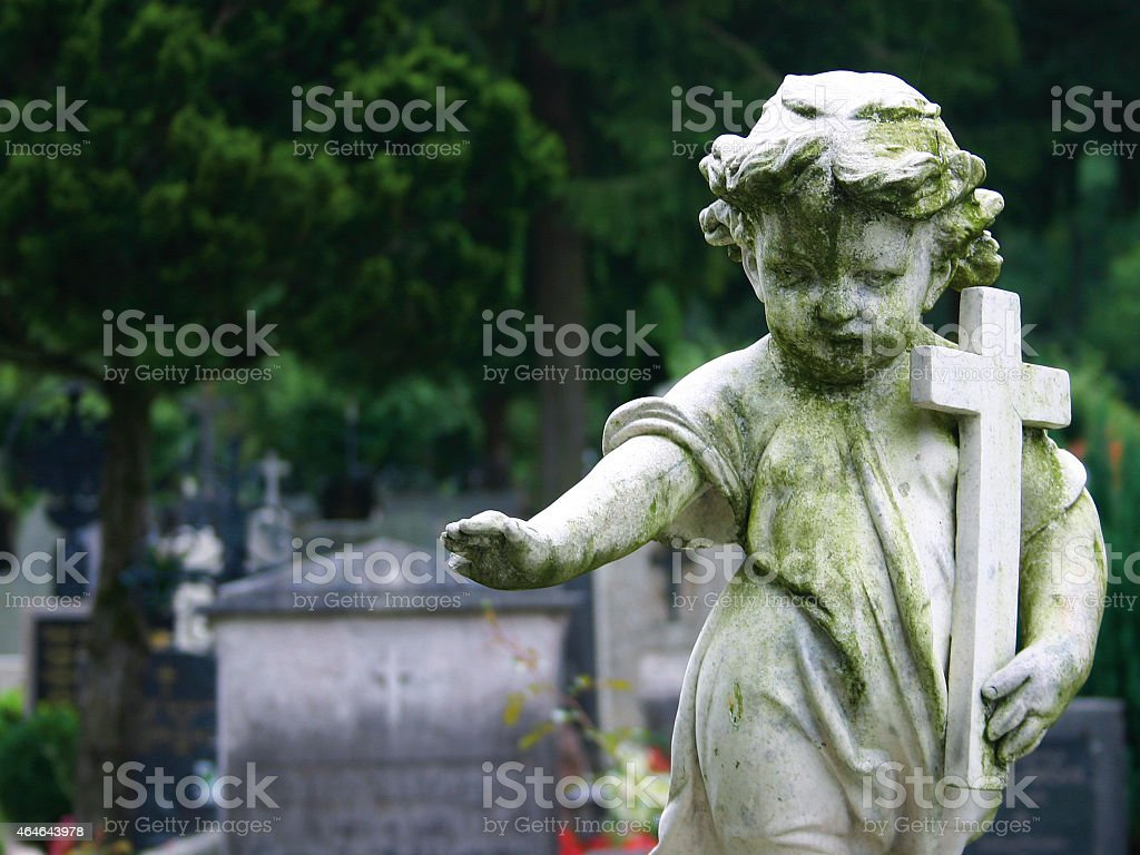 Stone Statue Child stock photo