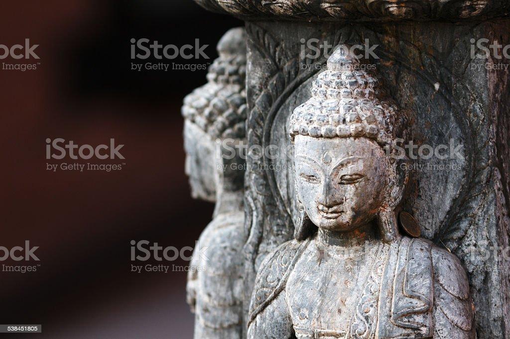 Stone statue of a Buddha stock photo