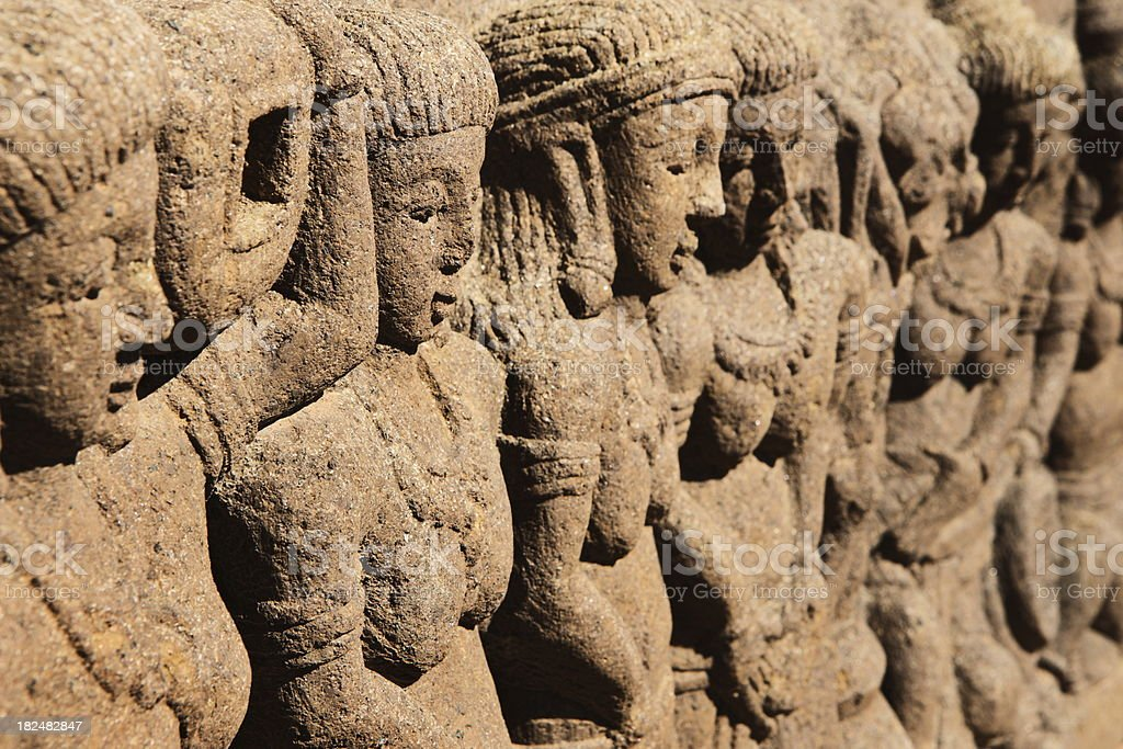 Stone Statue Sculpture Asian Culture stock photo