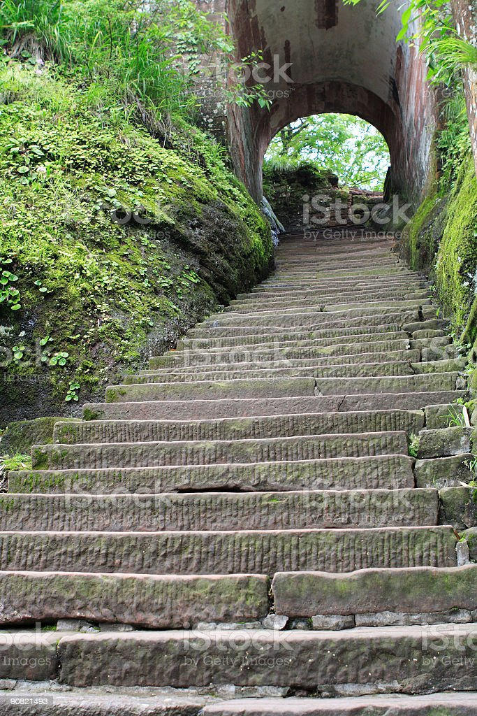 stone steps and hole royalty-free stock photo