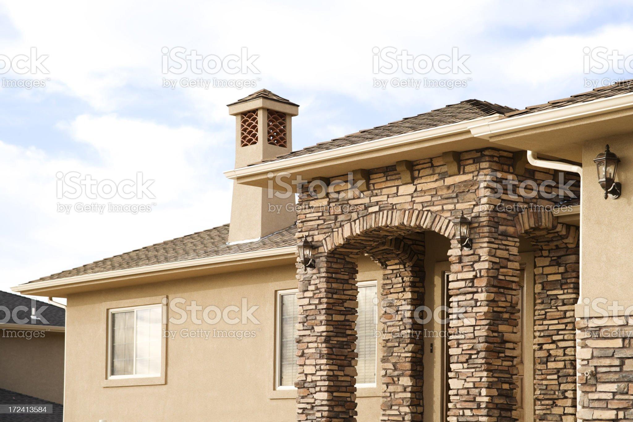 Stone Stucco and Sky royalty-free stock photo