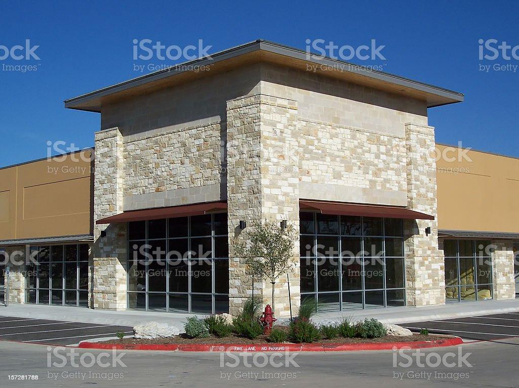 Stone & Stucco Storefront royalty-free stock photo
