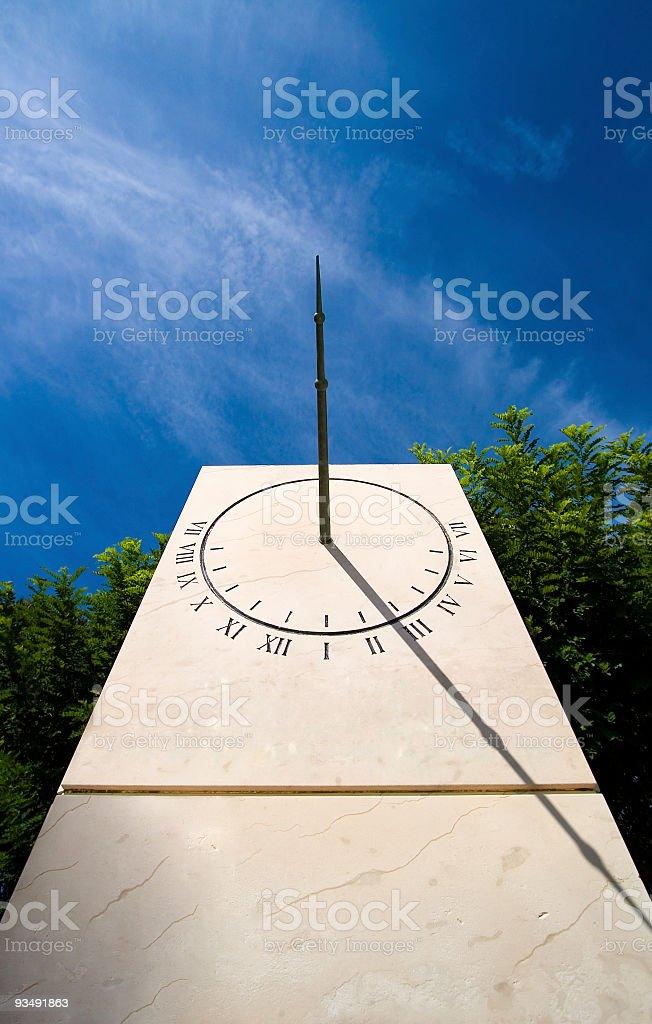 Stone Sundial Obelisk stock photo