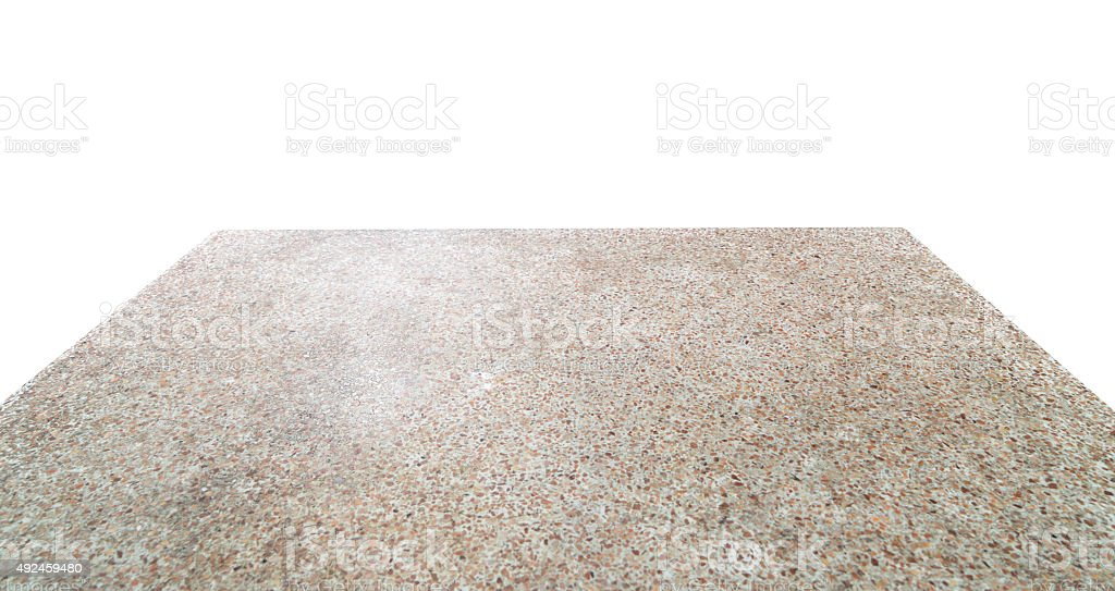 Stone Table Isolated for Backdrop stock photo