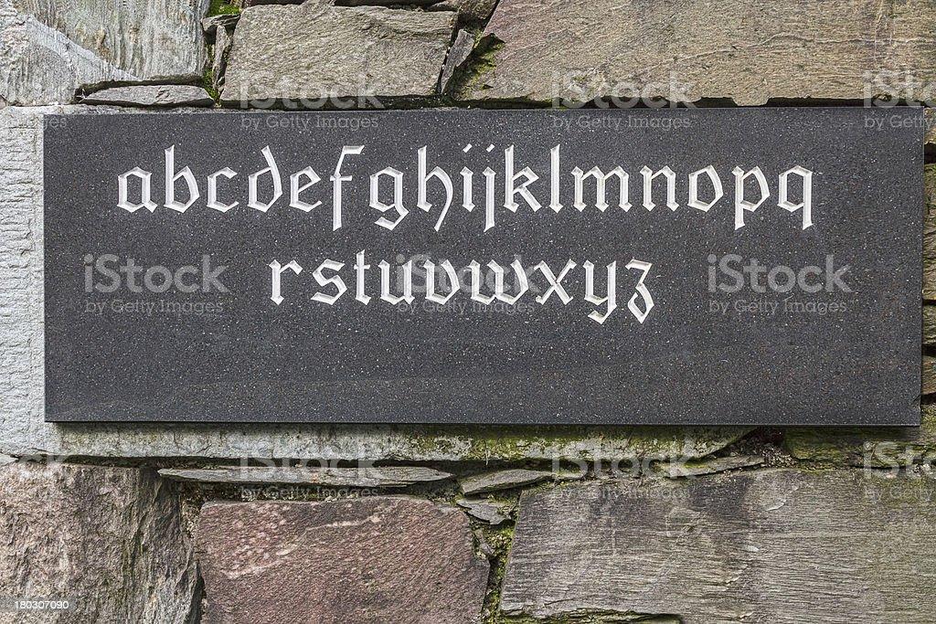 Stone Tablet royalty-free stock photo