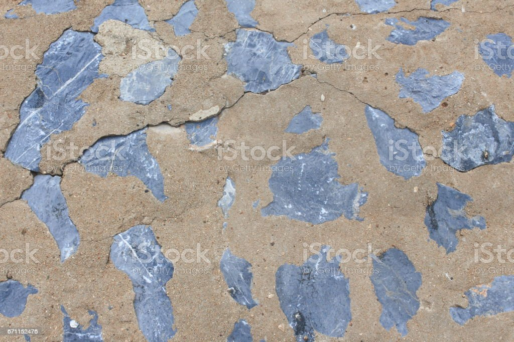stone texture, with cement wall background stock photo