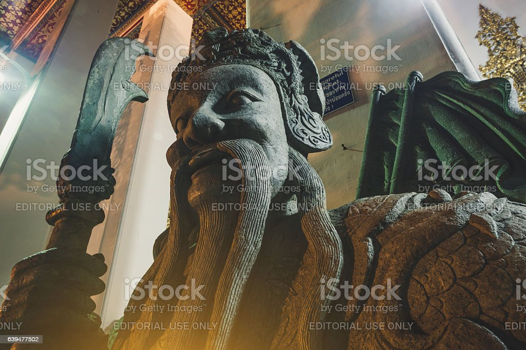 Stone Thai-Chinese style sculpture stock photo