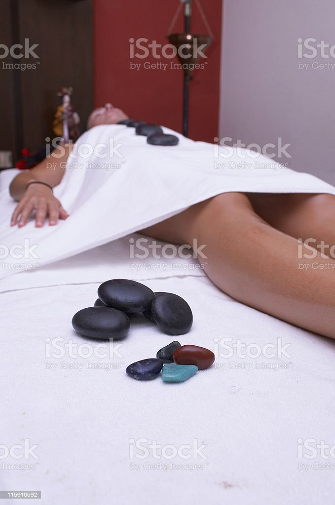stone theraphy royalty-free stock photo