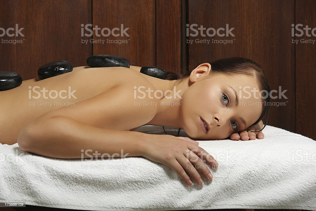 Stone therapy stock photo