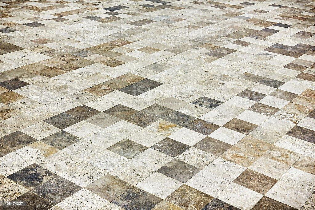Stone Tile Floor stock photo