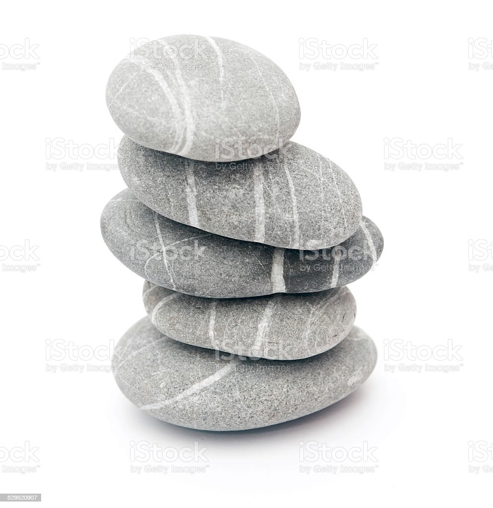 stone tower isolated on white stock photo